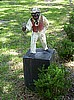 Antique lawn jockey